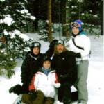 Ron Hauser's oldest Daughter Delana and her family Ski Trip to Breckenridge 2008