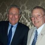 Don Rumsfeld and me this morning at the Chicago Council on Global Affairs (of which I'm a member.)  Dick Rehwaldt