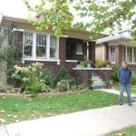 Keith in front of his birthplace 5421 N. Christiana Ave.-Chicago, IL