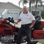 Dan Scacco with his Goldwing that he rides all around Florida.