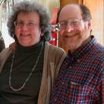 A photo from 2005 (when I was only 62) of me and my wife of more than 42 years now, Deborah [Sternberg] from New Orleans, whom I met in '66 when we were both grad students in Anthropology at the University of Chicago. Howard Bernstein