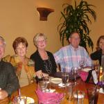 Bob Rhodes, Barb Trufant Rhodes,Pat Paul Leider, Murphy Leider,Louise Christianson Jacobson at a Tucson party