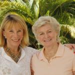 Diane Zahn Boran and Donna Miller Hitchins in Naples, FL