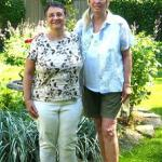 Marilyn Sargeant Roberts & Diana Gousch Berg, 2010, in her backyard in River Forest, IL.