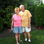Brian & Eileen Johnson in their backyard, Mount Prospect, IL, 2010