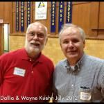 Larry Dallia and Wayne Kuehn at  the Lincoln School reunion
