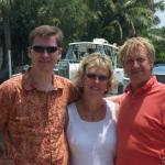 Anita Enberg Smith with her son Brad and husband Bob in Sanibel, Florida