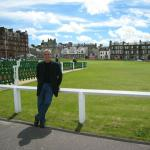 Mitch Melamed on vacation at St. Andrews, Scotland.