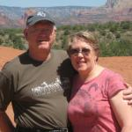 This picture is of me, Pam Trommer Shattuck and my husband Al Pettirossi, taken in Sedona, AZ last month.