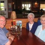 Here's the second picture.  Sandi Schoene Metzinger, Jan Shurley Schultz and I had a great four hour lunch a few weeks ago and the waiter snapped this shot.  We're going to do it again in August adding Mary Ann Freda Olson and Pam Trommer Shattuck.