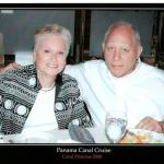 Sandy(Kemp) and Arnie Abramson on Panama Canal cruise, October, 2008.