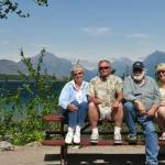 Barbara and I had a great time with our great hosts, Dennis and Brigid Crosby, at their home in Whitefish, MT, earlier this month.  Attached is a shot of the four of us at Glacier National Park. Chuck Scharf