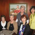Judy Dorman Neiman, Sue Alport Ludtke, Greer Kosdon Braun, Joy Leon Gorodess and Sandee Shapiro Laven met for lunch at Old Orchard in March, 2011.