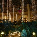 The beautiful Holiday display inside Opryland Hotel complex in Nashville.