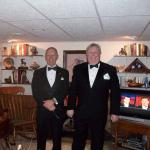 Lloyd Kuehn and Rod Bartels on their way to a black tie Chicago Auto Show Preview Party