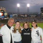 Steve Elkins, Cindi and their daughters at a White Sox game