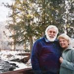 Denny and Brigid Crosby at Glacier National Park near their home in Whitefish, Montana