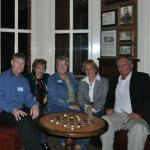 Keith Anderson,Iris Daglas,Bev Duffey Altes,Rochelle Laskov Zuniga and Chuck Scharf at a dinner in Temecula, CA