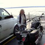 Judy Dziadula  on a ferry to Seattle