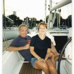 Lou Hilfman with his girlfriend, Chris, in Burnham Harbor, circa 2003