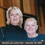 Lynda Richmond Fuller with her good friend Meredith Baxter