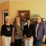 Sandi Schoene Metzinger, Pam Trommer Shattuck, Mary Ann Freda Olson, Jan Shurley Schultz getting together  for a day of lunch and visiting.