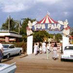 Fun Fair Amusement Park Entrance, 1960   The Fun Fair Amusement Park was located on southeast corner of Skokie Boulevard and Golf Road.
